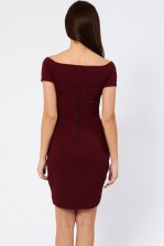 TFNC Carel Ox Blood Off Shoulder Dress