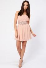 TFNC Orly Embellished Bandeau Dress