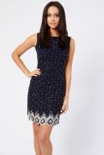Lace & Beads Tara Navy Tunic Dress