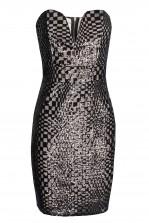 TFNC Halo Square Black Mini Dress