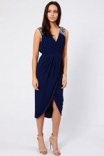 TFNC Deborah Navy Midi Dress