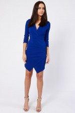 TFNC Alita Royal Blue Wrap-Over Dress