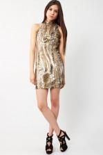 TFNC Mayfair Gold Sequin Dress