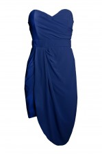 TFNC Dolly Navy Bandeau Dress