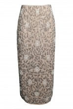 Lace & Beads Vera Taupe Skirt
