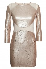 TFNC Bizzie Pink Sequin Dress