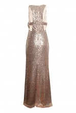 TFNC Tallulah Nude Sequin Maxi Dress