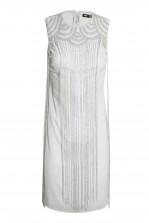 Lace & Beads Taylor Fringe Grey Embellished Dress