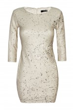 TFNC Paris Nude Sequin Dress