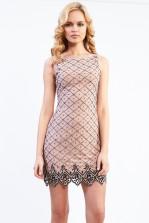 Lace & Beads Tara Pink Tunic Dress