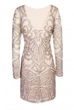 Lace & Beads Brooklyn Pink Embellished Dress