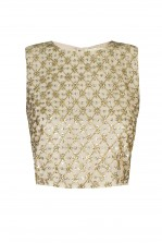 Lace & Beads Lizzy Gold Sequin Top