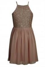Lace & Beads Sprinkle Mocha Dress