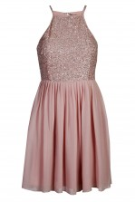 Lace & Beads Sprinkle Pink Dress