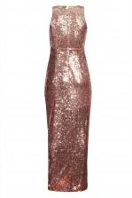 TFNC Lisha Nude Sequin Maxi Dress