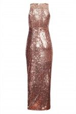TFNC Lisha Nude Sequin Maxi Dress