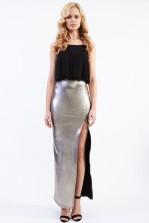 TFNC Annie Black Metallic Cami Maxi Dress