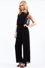 Lace & Beads Sharon Black Jumpsuit