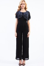 Lace & Beads Jodie Black Jumpsuit