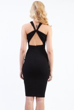TFNC Jazzy Black Midi Dress