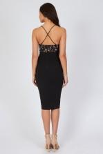 TFNC Nori Black Lace Midi Dress