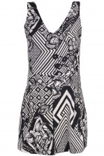 TFNC Lisa Optical Illusion Print Playsuit