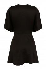 TFNC Dorysa Black Mini Wrap Dress
