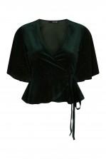 TFNC Atina Velvet Green Top