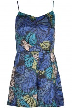 TFNC Riley Print Butterfly Playsuit