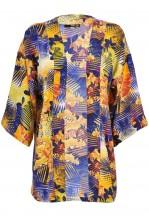 TFNC Tropical Palm Print Kimono