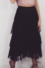 Lace & Beads Aston Black Culottes