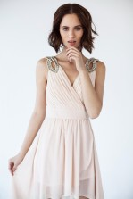 TFNC Debby Hilo Nude Dress