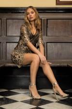 TFNC Casey Gold Sequin Mini Dress