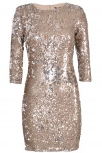 TFNC Paris Tarnished Two-Tone Sequin Dress