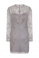 Lace & Beads Brazil Grey Embellished Dress