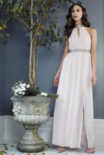 TFNC Leonlle Nude Maxi Embellished Dress