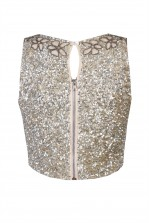 Lace & Beads Anastasia Silver Top