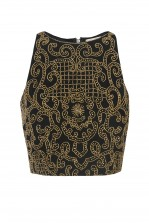 Lace & Beads Penny Black Top