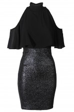 TFNC Lydina Black Cami Dress