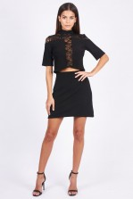TFNC Julianna Black Skirt