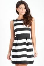 TFNC Carrington Stripe Fit and Flare Dress
