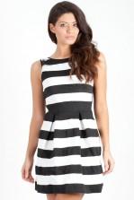 TFNC Carrington Stripe Fit and Flare Dress