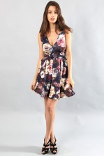 TFNC Janet Floral Fit and Flare Dress