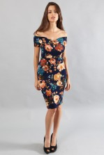 TFNC Jane Autumn Floral Off Shoulder Midi Dress