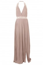 TFNC Chello Nude Maxi Embellished Dress