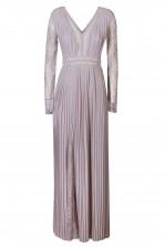 TFNC Lisboa Grey Maxi Embellished Dress