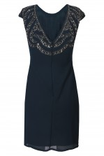 Lace & Beads Park Navy Embellished Dress
