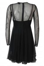 Lace & Beads Amanda Black Sheer Dress