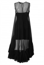 Lace & Beads Flamingo Black Sheer Dress