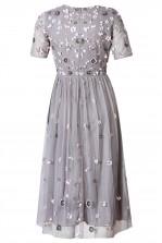 Lace & Beads Baby Grey Dress